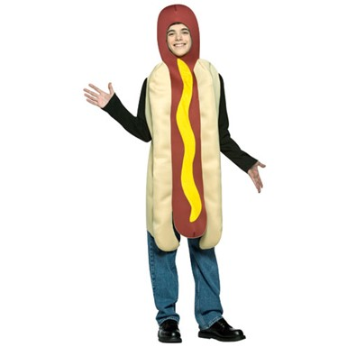 Hot Dog Frankfurter Sausage Teen kids siz 13-16 Costume