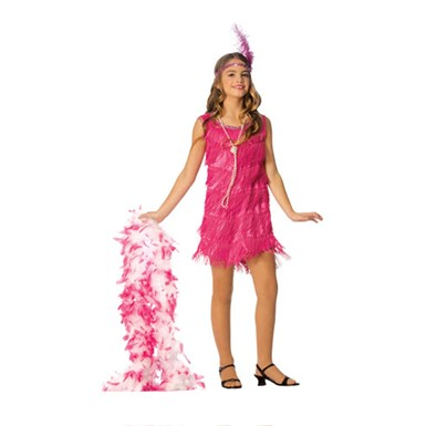 Hot Pink Girls Flapper Costume