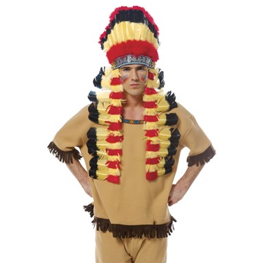 Indian Feather Headdress Costume Accessory