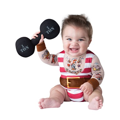 Infant Silly Strongman Halloween Costume
