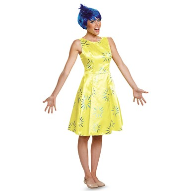 Inside Out Deluxe Joy Costume - Womens