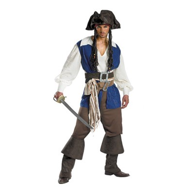 Jack Sparrow Pirate Costume - Deluxe Standard