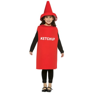 Ketchup Bottle Kids Halloween Costume size 7-10