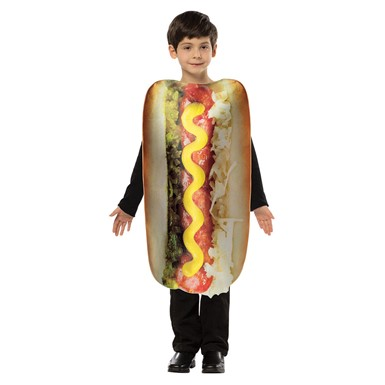 Kids Get Real Hot Dog Food Halloween Costume 7-10