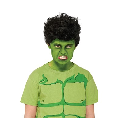 Kids Hulk Marvel Halloween Costume Wig