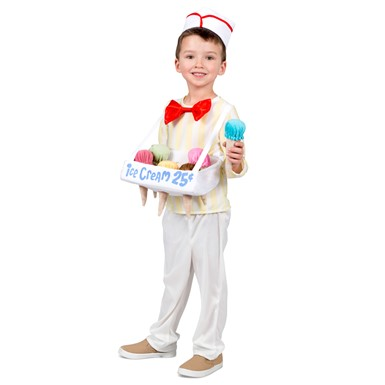 Kids Ice Cream Cone Salesman Halloween Costume