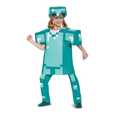 Kids Minecraft Armor Deluxe Halloween Costume