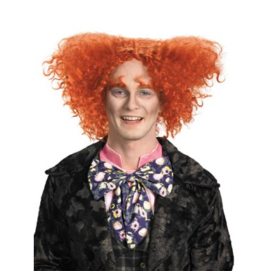 Mad Hatter Wig Mens Halloween Costume Accessory