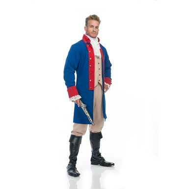 Mens Alexander Hamilton Red Musical Costume
