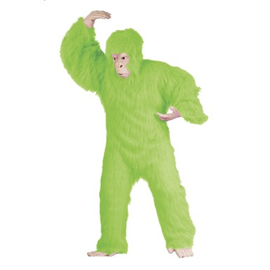 Mens Ape Costume - Lime Gorilla Adult Size