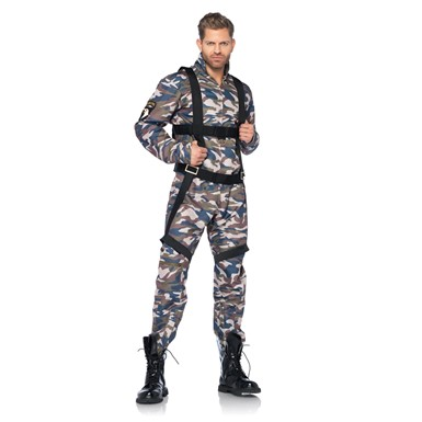 Mens Army Jumpsuit Costume
