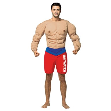 Mens Baywatch Muscle Lifeguard Costume
