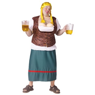 Mens Big & Tall Oktoberfest Bavarian Beer Girl Costume