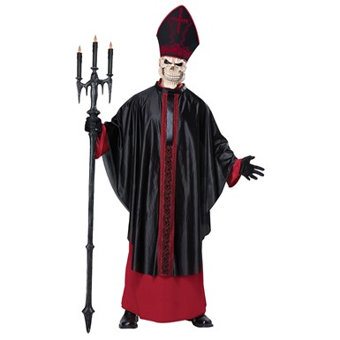 Mens Black Mass Costume