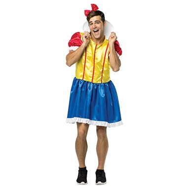 Mens Bro White Funny Princess Costume