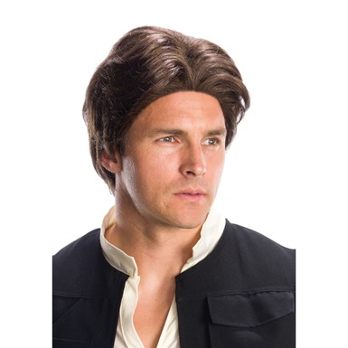 Mens Brown Han Solo Costume Wig