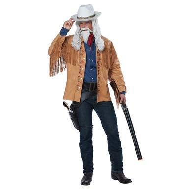 Mens Buffalo Bill Wild West Showman Cowboy Costume