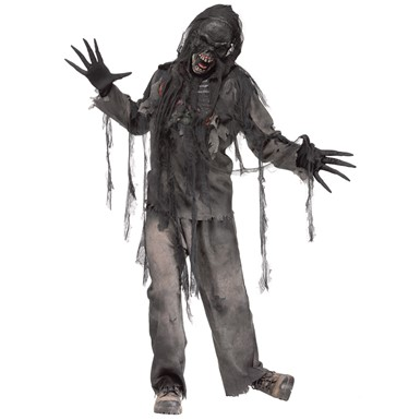 Mens Burning Dead Zombie Halloween Costume