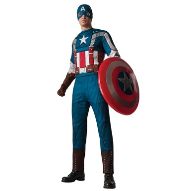 Mens Captain America Deluxe Retro Costume