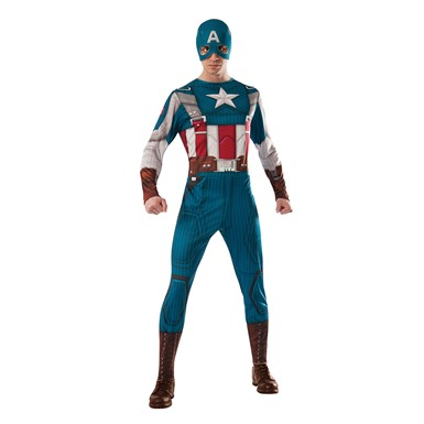 Mens Captain America Retro Suit Costume