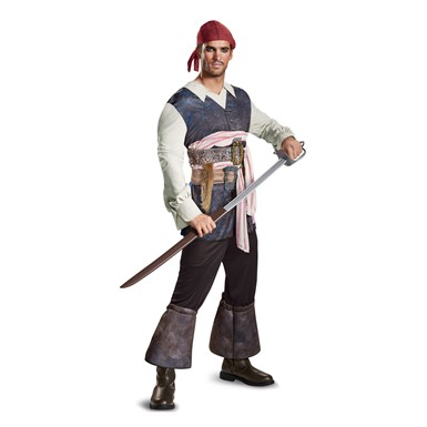 Mens Captain Jack Sparrow Classic Pirate Costume