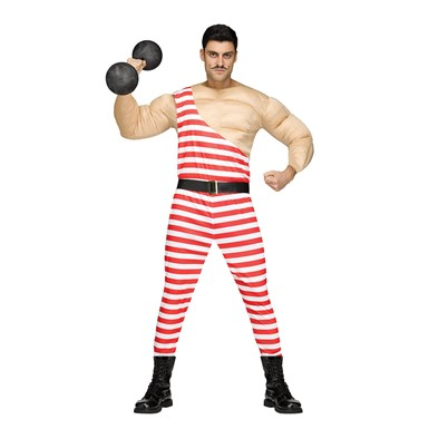 Mens Carny Muscle Man Circus Costume