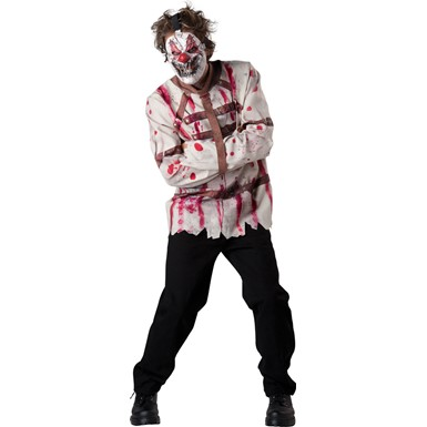 Mens Circus Psycho Clown Costume