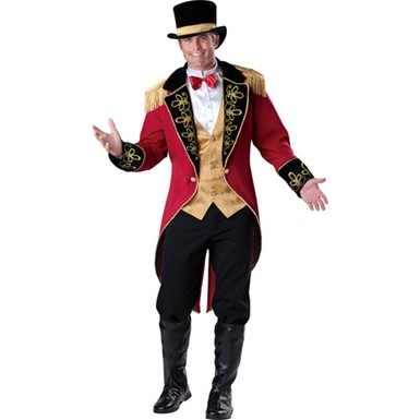 Mens Circus Ringleader Funny Halloween Costume