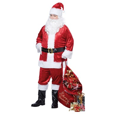 Mens Classic Santa Claus Halloween Costume