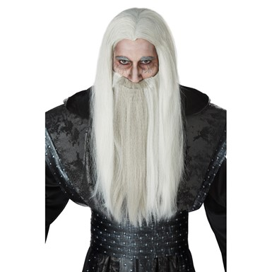 Mens Dark Wizard Beard & Wig