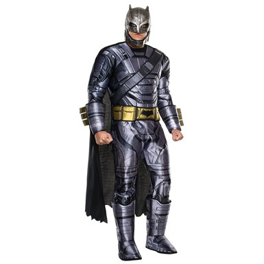 Mens Deluxe Armored Batman Dawn of Justice Costume
