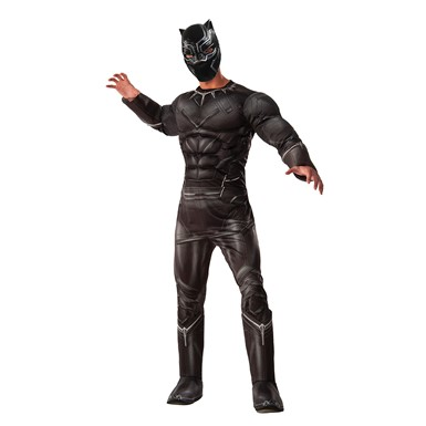 Mens Deluxe Black Panther Halloween Costume