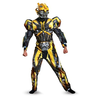 Mens Deluxe Bumblebee Transformers Halloween Costume