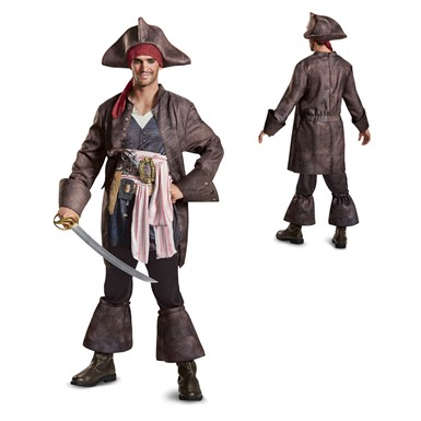 Mens Deluxe Captain Jack Sparrow Costume