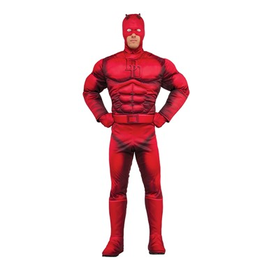 Mens Deluxe Daredevil Muscle Chest Costume