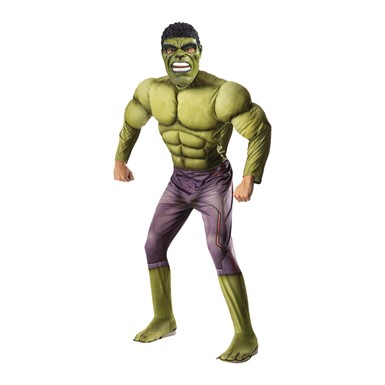 Mens Deluxe Muscle Chest Hulk Avengers Costume