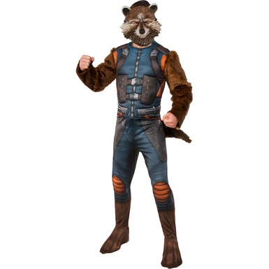 Mens Deluxe Rocket Raccoon Guardians of the Galaxy Costume