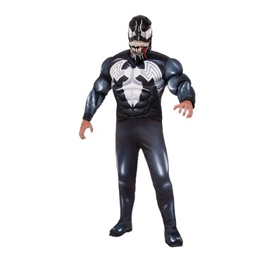 Mens Deluxe Venom Marvel Halloween Costume