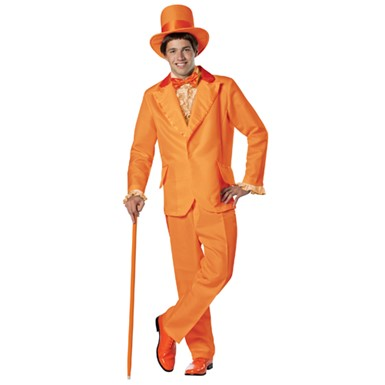 Mens Dumb And Dumber Lloyd Orange Tuxedo Plus Size Costume