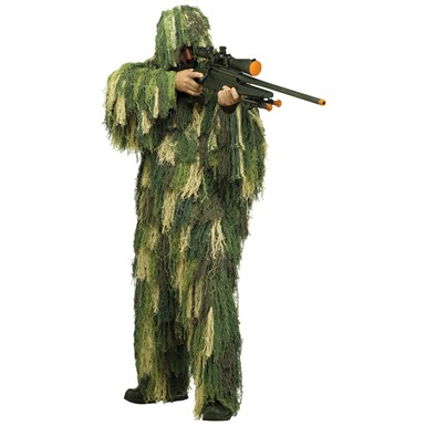 Mens Ghillie Suit Camouflage Costume