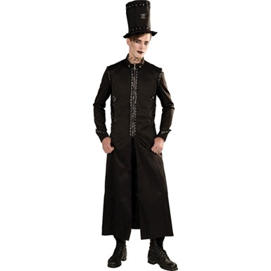 Mens Gothic Long Jacket Halloween Costume