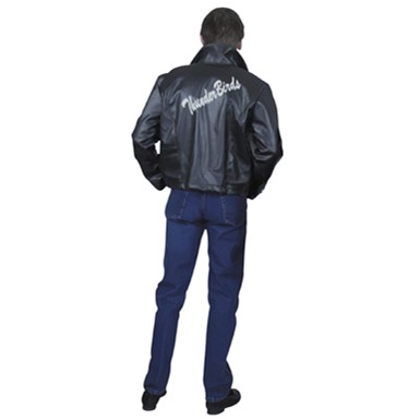 Mens Grease Leather Jacket - Plus Size
