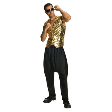 Mens Halloween MC Hammer Pants Color Black