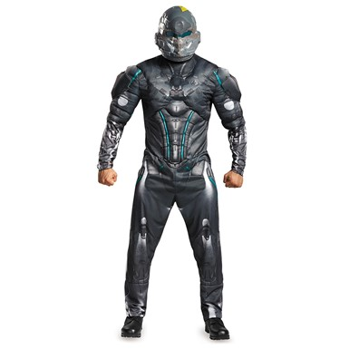 Mens Halo Muscle Spartan Locke Costume