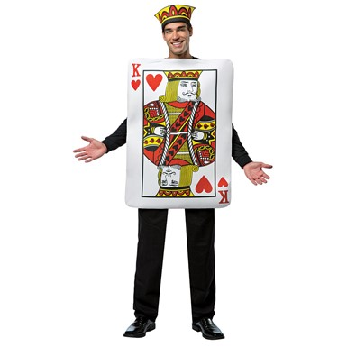 Mens King of Hearts Poker Costume