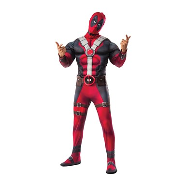Mens Muscle Chest Deadpool Halloween Costume