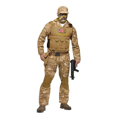 Mens Navy SEAL Military Warrior Halloween Costume