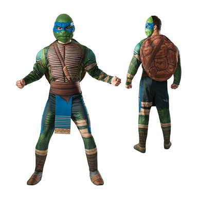 Mens Ninja Turtles Leonardo Muscle Halloween Costume