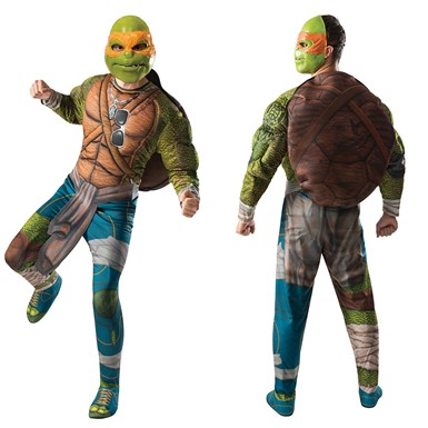 Mens Ninja Turtles Michelangelo Muscle Costume