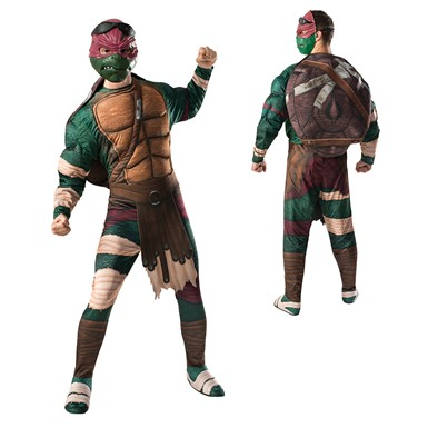 Mens Ninja Turtles Raphael Muscle Costume